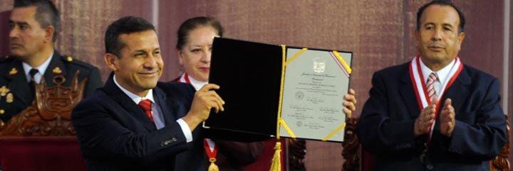 """Humala: """"mi gobierno buscará la reconciliación y el crecimiento con inclusión social"""""""