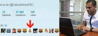 El barcelonista Dani Alves, seguidor del Real Madrid en Twitter