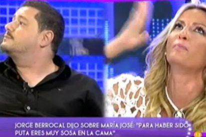 """Jorge Berrocal y María José Galera ('GH1') a punto de pegarse en directo: """"Para haber sido puta eres muy sosa en la cama"""""""
