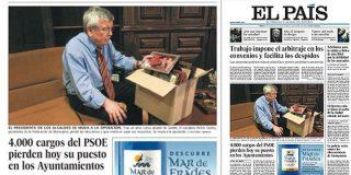 Más de 4.000 cargos del PSOE pierden hoy su puesto en los Ayuntamientos