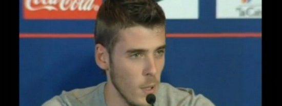 De Gea se va del Atlético mintiendo por el club en una fría rueda de prensa