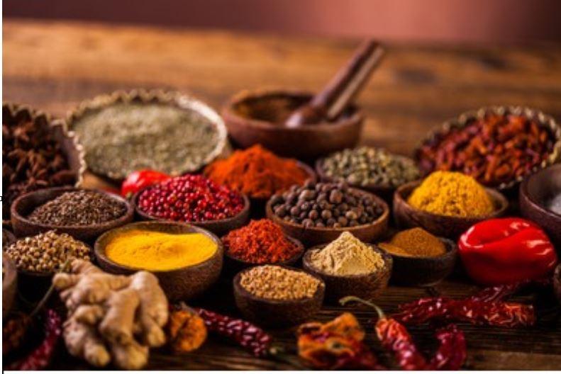 especias variadas de la India
