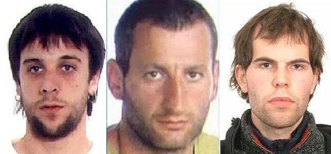 Tres etarras entran en la lista de 'más buscados' por la Guardia Civil