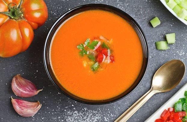 recetas de verano -gazpacho sin pan