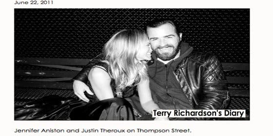 Jennifer Aniston y Justin Theroux confirman su noviazgo con una foto