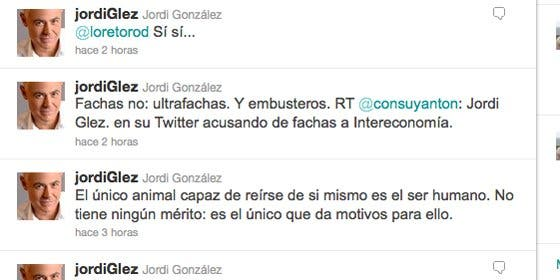 """Jordi González: """"En Intereconomía son fachas y embusteros"""""""