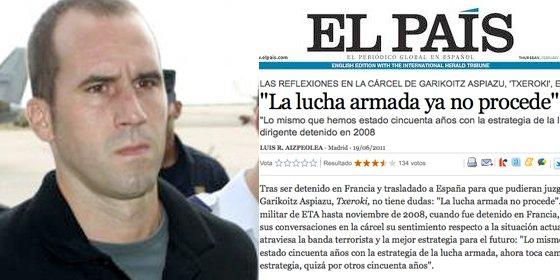 Publirreportaje etarra de El País: Rubalcaba convierte a Txeroki en protagonista de su negociación con ETA