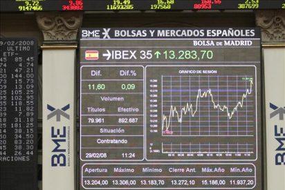 La Bolsa española se da la vuelta y el IBEX 35 gana un 0,49 por ciento a media sesión
