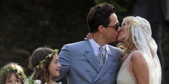 Kate Moss continúa hoy celebrando su boda por todo lo alto