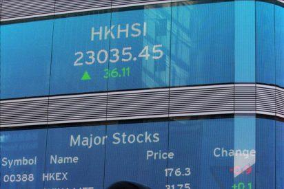 El índice Hang Seng subió 415,15 puntos,1,85% en la apertura hasta 22.813,25