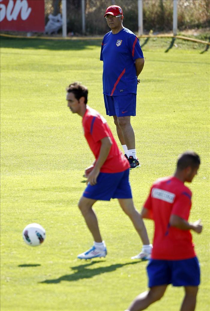 El Atlético continúa su puesta a punto con trabajo físico sin balón