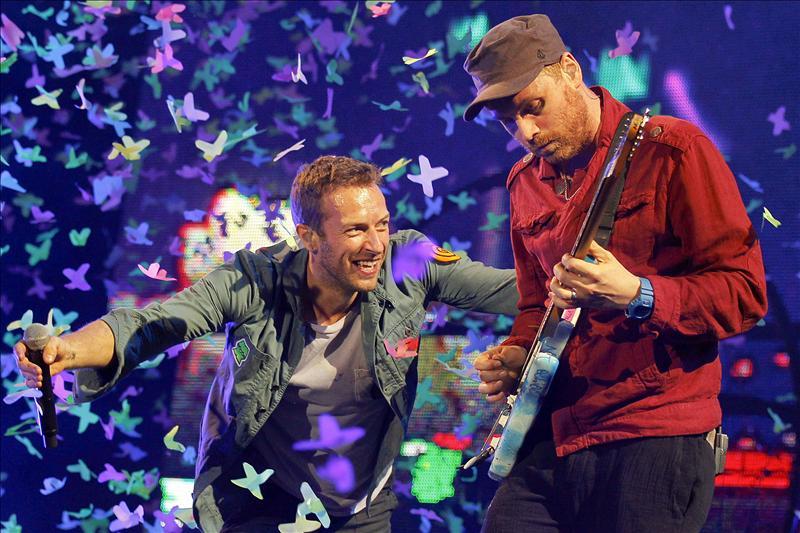 Coldplay ilumina Lisboa