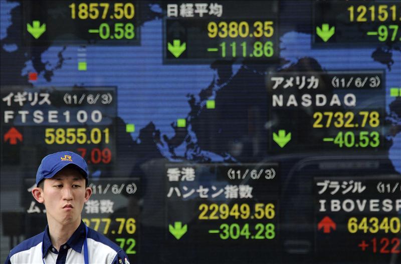 El índice Nikkei bajó 33,10 puntos, el 0,33 por ciento, hasta 10.049,38 puntos