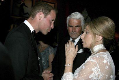 Nicole Kidman y Barbra Streisand comparten mesa con los duques de Cambridge