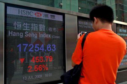 El índice Hang Seng baja un 1,99 por ciento a media sesión