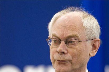Van Rompuy se ve hoy con Zapatero tras agravarse la crisis de la deuda