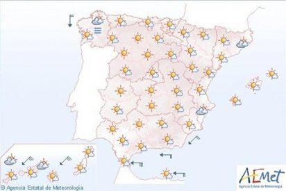 Chubascos fuertes en áreas de Cataluña y temperaturas en ascenso en noroeste