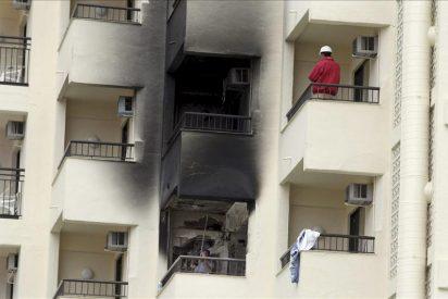 Cinco personas heridas en un incendio registrado hoy en Alicante
