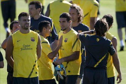 El Barcelona se entrena conjuntamente con la plantilla del filial