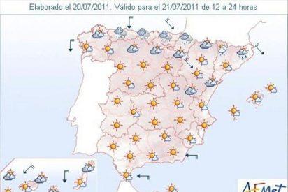 Lluvias débiles en comunidades cantábricas, Pirineos y nordeste de Cataluña