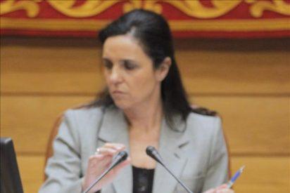 Pilar Rojo hace la ofrenda al Apóstol Santiago