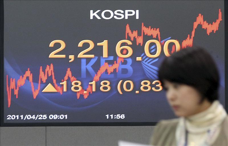 El índice Kospi sube 5,61 puntos, el 0,25 por ciento, hasta 2.174,31 puntos
