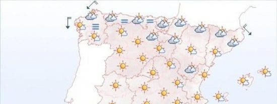Hoy, temperaturas altas en el suroeste peninsular, Centro y Canarias