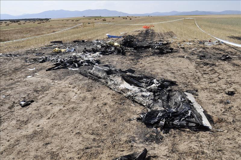 La avioneta donde murieron dos personas en Segovia voló desde Alemania