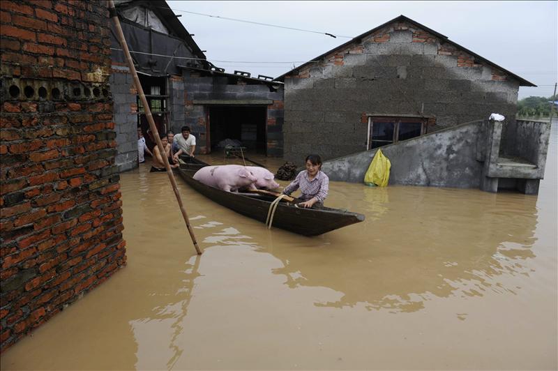 Trece muertos y casi 450.000 afectados por las lluvias torrenciales en el norte de China