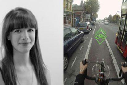 Una bicicleta con láser que avisa a coches, camiones y autobuses