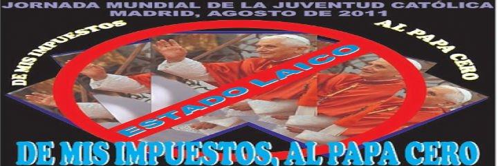 """Europa Laica replica a Aguirre: """"No es una manifestación antipapa"""""""