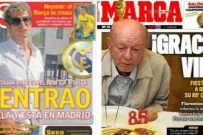 El diario AS le marca un gol a Marca con Coentrao