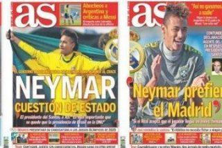 El diario AS se pone pesado con el fichaje de Neymar