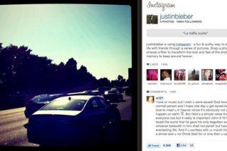 Bieber satura Instagram con su foto y marca récord de comentarios