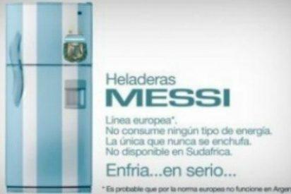 """""""Heladeras Messi: no consume ningún tipo de energía, la única que nunca se enchufa, de línea europea"""""""