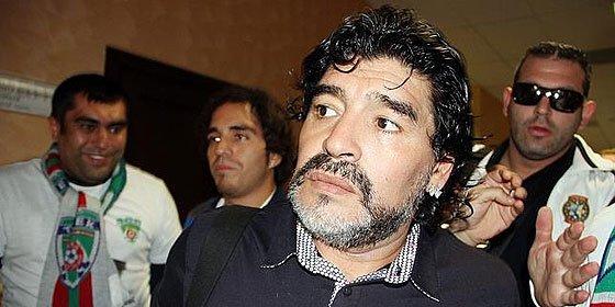 Maradona sufre un accidente de tráfico