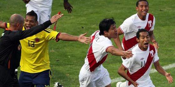 Perú liquida 2 a 0 a Colombia