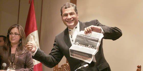 "Periódico peruano tachó a Rafael Correa de ""Aprendíz de dictador"""