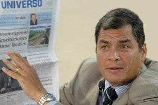 Rafael Correa da un golpe mortal a la prensa opositora en Ecuador