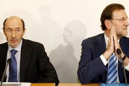 Rajoy y Rubalcaba, los candidatos antiZapatero