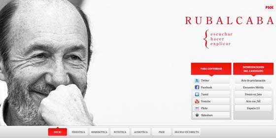 El enésimo baño de marketing de Rubalcaba para ocultar su pasado