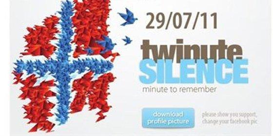 Minuto de silencio en Twitter y Facebook por las víctimas de Noruega