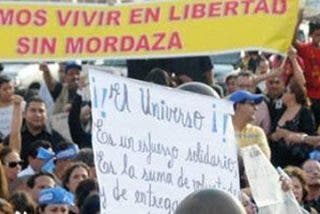 """Condena mundial al fallo judicial contra el diario """"El Universo"""" de Ecuador"""