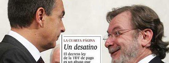 Prisa a degüello contra Zapatero: Es la peste