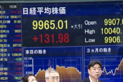 La bolsa de Tokio baja al cierre el 2,1 por ciento y queda en los 9.637,14 puntos