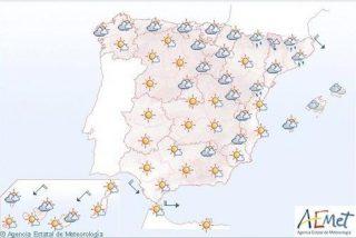 Lluvias débiles en el País Vasco, alto Ebro y área pirenaica