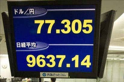 El Nikkei sube 44,94 puntos, un 0,47 por ciento, hasta 9.682,08 puntos