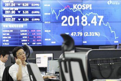 La preocupación por la situación en EEUU y Europa castiga duramente al Kospi
