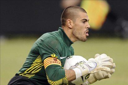 2-0. Villa y Valdés dieron al Barcelona la victoria del honor