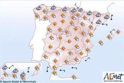 Viento fuerte en el valle del Ebro y temperaturas altas en Andalucía